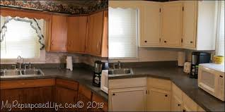 paint kitchen cabinets before and afterKitchen Cabinets Updated with Paint  Trim  My Repurposed Life