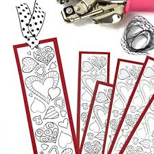 Easter crafts, bunny pages, flowers and more! Printable Heart Bookmarks To Color Craftgawker