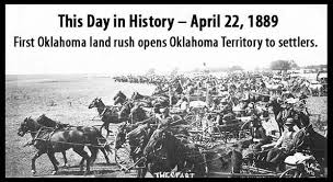 Image result for At precisely high noon, thousands of would-be settlers make a mad dash into the newly opened Oklahoma Territory to claim cheap land.
