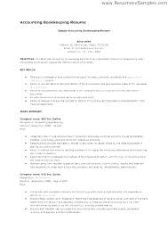 Accounting Bookkeeping Resume Sample Entry Level Accounting Resume ...