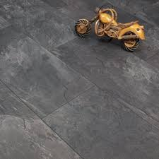 image of dark tile laminate flooring