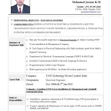 Resume Format For Engineers Experienced   Barcelonajerseys.net