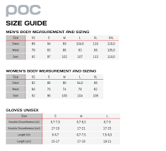 Poc Bike Helmet Size Chart Poc Raceday Gilet