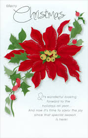 Poinsettia Card Details About Poinsettia Christmas Card Greeting Card By Freedom Greetings