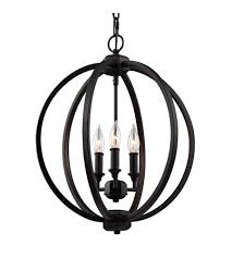 feiss f3060 3orb corinne 3 light 17 inch oil rubbed bronze globe pendant ceiling light
