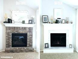replace brick fireplace replacing brick fireplace how to cover brick with wood and marble on this
