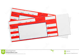 Blank Concert Ticket Template Blank Red Concert Tickets Stock Photo Image Of Chair 38680436