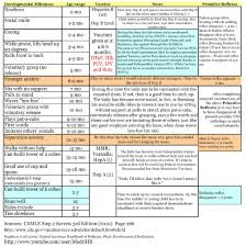 Preemie Baby Milestones Chart This Was Made For Med Students And Is A Helpful Overview Of