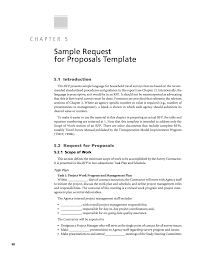 Travel Survey Template Chapter 24 Sample Request For Proposals Template Standardized 3