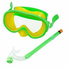 Kids Children Sport Snorkel Set Swimming Goggles Semi Dry