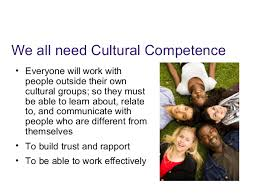standardized cultural competency in service training 46 we all need cultural competence