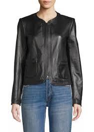 patch pocket leather jacket