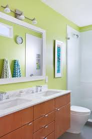 bathroom colors green. Green Contemporary Bathroom With Striped Towels Colors