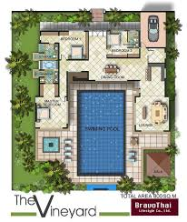 Best 25 U shaped house plans ideas on Pinterest