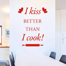 Wandtattoo I Kiss Better Than I Cook Lustiger Spruch Für Küche