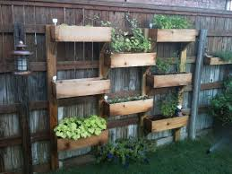 Creative DIY Vertical Fence Mounted Garden Planter Boxes Using Cedar Wood  For Backyard Garden House Ideas