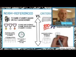 criterion referenced assessment criterion vs norm referenced assessment examples evaluation youtube