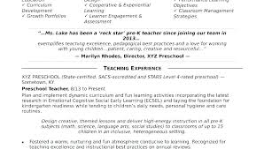 Example Of Teacher Resume Fascinating Teachers Resume Objective Dewdrops