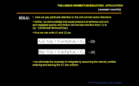 the linear momentum equation