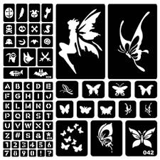 боди арт временные татуировки 1шт блеск татуировки трафарет рисунок для живописи