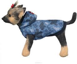"""<b>Ветровка для собак Dogmoda</b> """"Мегаполис"""", унисекс, цвет: синий ..."""