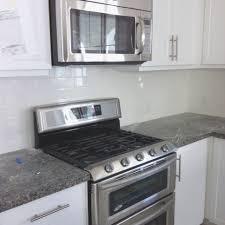 No Backsplash In Kitchen Caledonia Granite Subway Tile Backsplash Kitchen Cuisinart