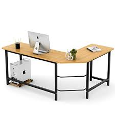 l shaped desk wood. Interesting Desk Tribesigns Modern LShaped Desk Corner Computer PC Latop Study Table  Workstation Home Office Inside L Shaped Wood D