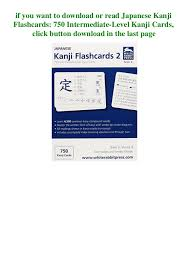 Kanji Flashcards Pdf