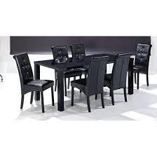 literarywondrous black high gloss finish large dining table and 6 chairs high gloss black dining table