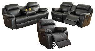 3 piece manque set double reclining