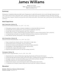 Resume Examples Customer Service Representative Free Resume