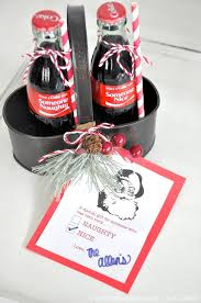 Holiday Christmas neighbor gifts | naughty or nice | Coca Cola bottles | by  Kara's Party
