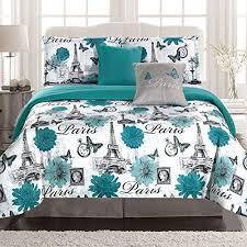 paris eiffel tower twin comforter set