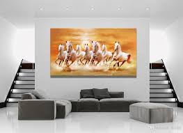2018 horse running landscape white horse canvas painting home decor canvas wall art picture digital art print for living room from utoart 37 07 dhgate