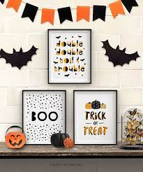 This year i've been a little bit of a slacker so far as far as decorating goes, but last year…i had some fun! Free Printable Halloween Wall Art Modern Prints For Your Halloween Decor