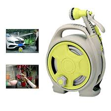 automatic garden hose reel. Wonderful Hose Aolvo Retractable Garden Water Hose Reel Wall Mount Auto Automatic  Reel Any On