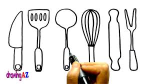 Small Picture Kitchen Tools Coloring Page for Kids Draw and Coloring Kitchen