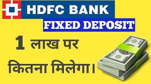 Hdfc Bank Fixed Deposit Fd Hdfc Bank Interest Rate 2018