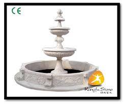 white stone outdoor water fountain