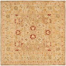 safavieh anatolia tan ivory 8 ft x 8 ft square area rug