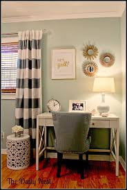 The Daily Nest/www.thedailynest.com Palladian Blue guest room. Pottery Barn