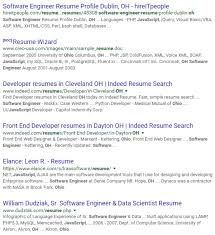 Front End Developer Resume Interesting How To Do A Successful Google Resume Search