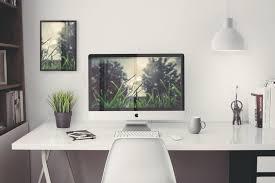 free home office. Free IMac Home Office PSD Mockup