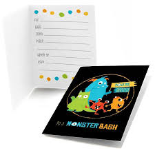 Lil Monster Birthday Invitations Monster Bash Fill In Little Monster Birthday Party Or Baby Shower