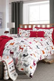 Buy Brushed Cotton Pattern Stags Bed Set from the Next UK online ...
