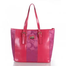 Coach Madison East West Medium Pink Totes Outlet Clearance