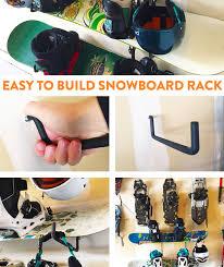 diy snowboard rack