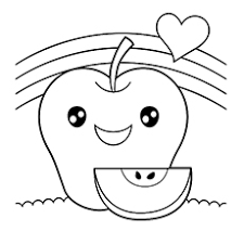 Small Picture Apple Coloring Pages For Your Little Ones