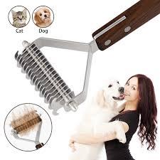 <b>Pet</b> Trimming Dematting Deshedding Brush Grooming Tool For ...