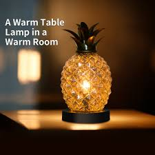 97 Glass Electroplating Pineapple Bedside Table Lamp Night Light Home Decor